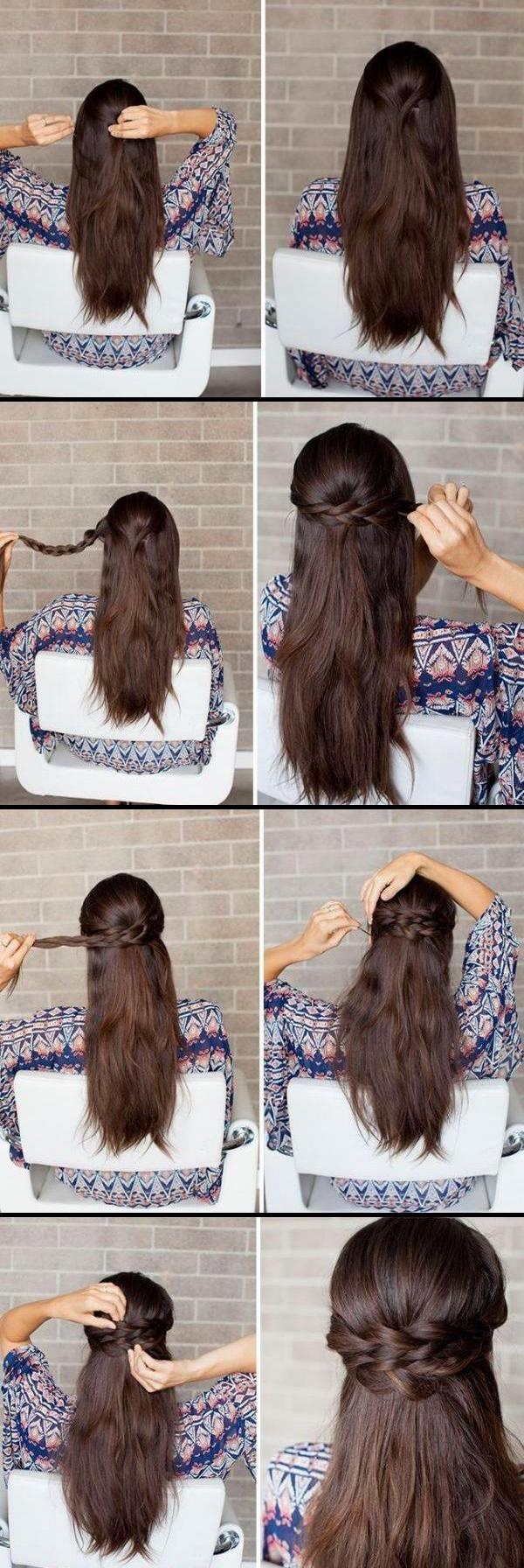 Как сделать прическу на распущенных волосах своими руками