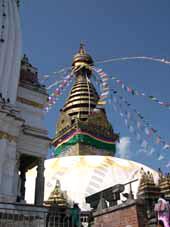 Куда поехать в ноябре: Катманду, Непал. Фото Strany.net: ступа в комплексе Сваямбунатх