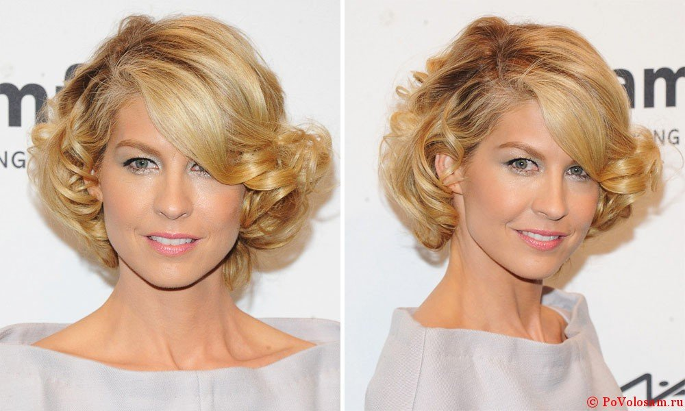 Укладка волос короткой длины в домашних условиях фото