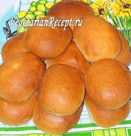 Постные дрожжевые пирожки с капустой (фото)