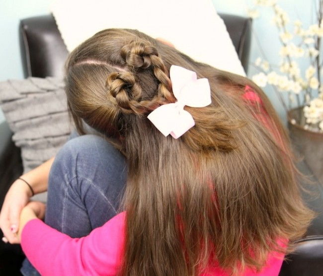 Twist-Braided Heart - Valentines Day Hairstyles 2