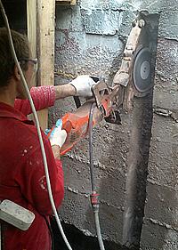 алмазная резка проема в бетоне